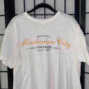 Mackinaw City T-Shirt White Medium Men's